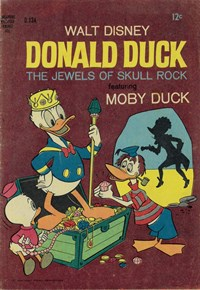 Walt Disney's Donald Duck [D Series] (WG Publications, 1956 series) #134 — The Jewels of Skull Rock (Cover)