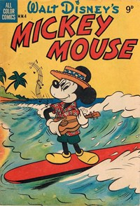 Walt Disney's Mickey Mouse [MM series] (WG Publications, 1953 series) #M.M.4 — Walt Disney's Mickey Mouse (Cover)