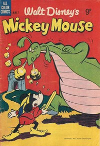 Page 1—Walt Disney's Mickey Mouse [MM series] (WG Publications, 1953 series) #M.M.7  (May 1954)