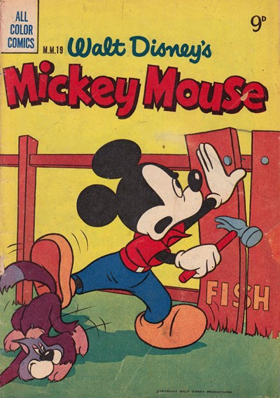 Walt Disney's Mickey Mouse [MM series] (WG Publications, 1953 series) #M.M.19  (1955)