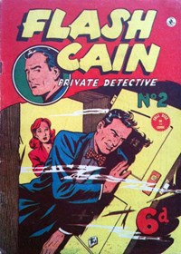 Page 1—Flash Cain Private Detective (KG Murray, 1949? series) #2  ([1949?])