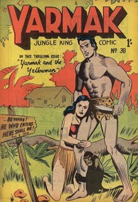 Yarmak Jungle King Comic (Youngs, 1949 series) #38 — Yarmak and the Yellowmen (Cover)