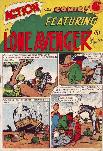 Action Comic (Leisure Productions, 1948 series) #22 ([July 1948?]) —Action Comic! Featuring the Lone Avenger