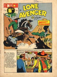 Action Comic (Leisure Productions, 1948 series) #36 ([September 1949?]) —The Lone Avenger