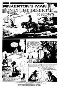 Super Giant Album (KG Murray, 1976 series) #23 — Only the Desert Knows (page 1)
