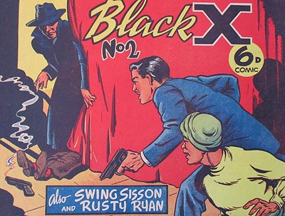 Black X (Pyramid, 1952? series) #2 (April 1950)