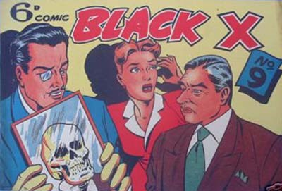 Black X (Pyramid, 1952? series) #9 ([1950?])