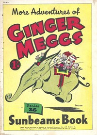 "The ""Sunbeams"" Book (Associated Newspapers, 1924 series) #26 ([1949]) —More Adventures of Ginger Meggs"