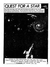 Space Adventure (Yaffa/Page, 1975? series) #1 — Quest for a Star (page 1)