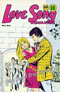 Love Song Romances (Murray, 1977 series) #84 — Why Can't I Stop Crying? (Cover)