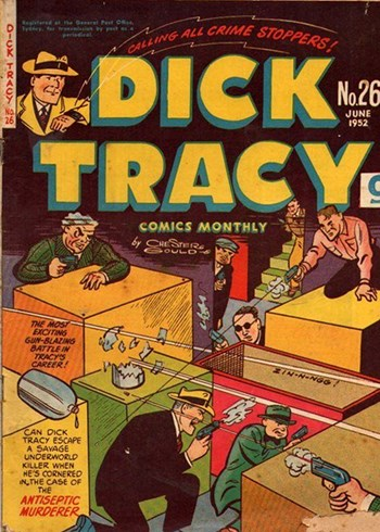 Antiseptic Murderer—Dick Tracy Comics Monthly (Illustrated, 1950 series) #26  ([June 1952?])