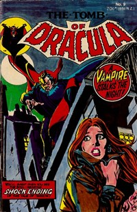 The Tomb of Dracula (Yaffa, 1978 series) #9 — A Vampire Stalks the Night (Cover)