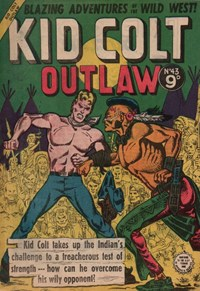 Kid Colt Outlaw (Transport, 1952 series) #43 ([August 1955?])