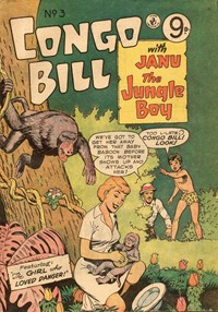 Congo Bill with Janu the Jungle Boy (Colour Comics, 1955 series) #3 — The Girl Who Loved Danger!