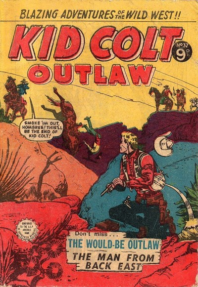 Kid Colt Outlaw (Transport, 1952 series) #37 ([February 1955?])