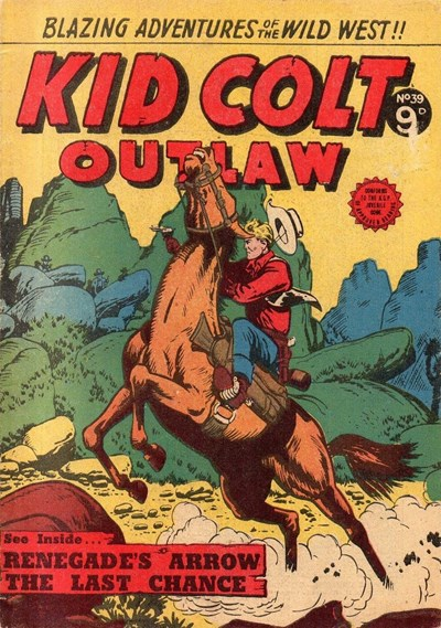 Kid Colt Outlaw (Transport, 1952 series) #39 ([April 1955])