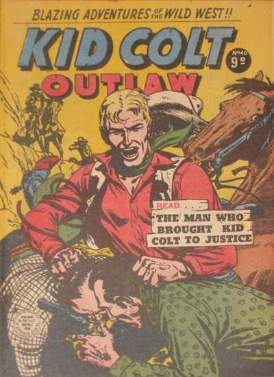 Kid Colt Outlaw (Transport, 1952 series) #40 ([May 1955?])