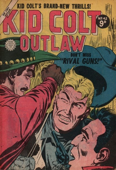 Kid Colt Outlaw (Transport, 1952 series) #42 ([July 1955?])