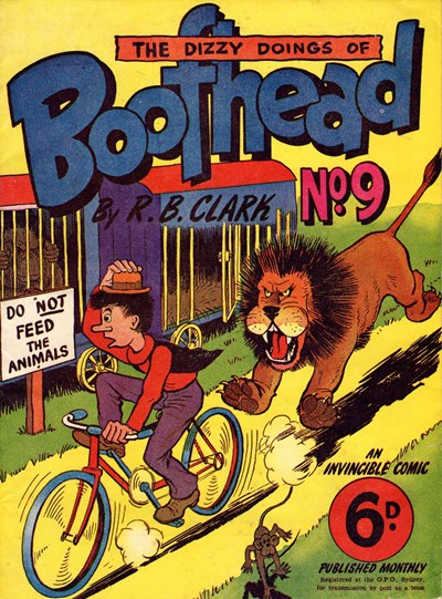 Boofhead (Invincible, 1945 series) #9 (April 1949) —The Dizzy Doings of Boofhead