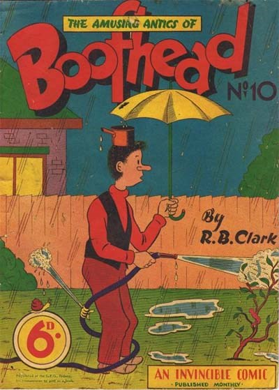Boofhead (Invincible, 1945 series) #10 ([August 1949?]) —The Amusing Antics of Boofhead