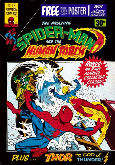 The Amazing Spider-Man (Newton, 1974 series) #2 ([June 1975?]) —The Amazing Spider-Man and the Human Torch