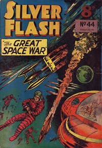 Silver Flash and his Frog-Men (Invincible, 1949 series) #44 — The Great Space War (Cover)