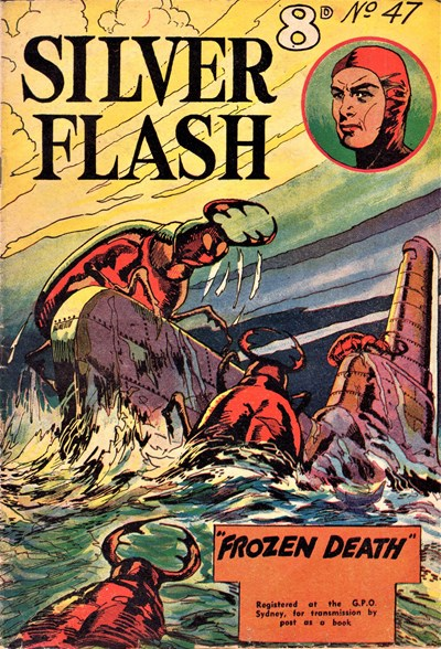 Silver Flash and his Frog-Men (Invincible, 1949 series) #47 ([April 1954?])