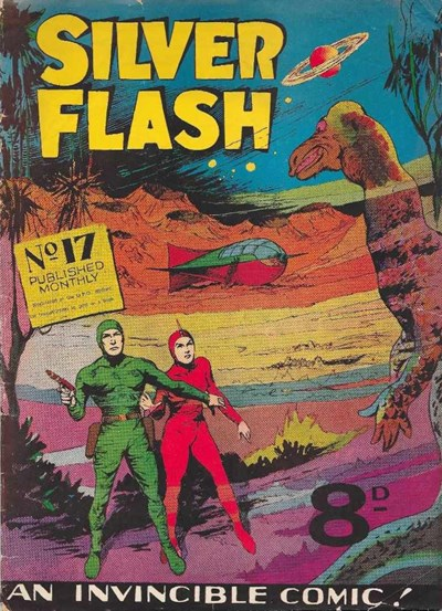 Silver Flash and his Frog-Men (Invincible, 1949 series) #17 ([October 1951?])