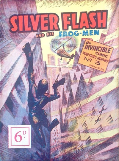Silver Flash and his Frog-Men (Invincible, 1949 series) #3 ([August 1950]) —Silver Flash and His Frog-Men