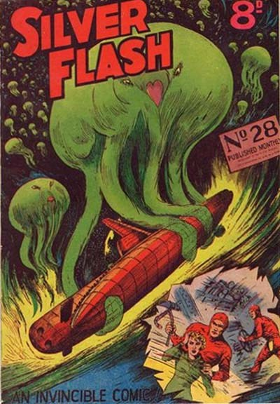 Silver Flash and his Frog-Men (Invincible, 1949 series) #28 ([September 1952?])