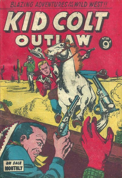 Kid Colt Outlaw (Transport, 1952 series) #38 ([March 1955?])