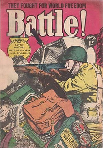 Battle Action (Horwitz, 1954 series) #36 ([July 1957?])