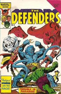 The Defenders (Federal, 1984? series) #8 — Trouble in Paradise! (Cover)