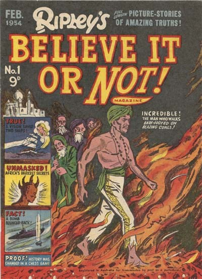 Ripley's Believe It or Not! Magazine (Magman, 1954 series) #1 (February 1954)