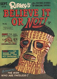Ripley's Believe It or Not! Magazine (Magman, 1954 series) #4 (September 1954)