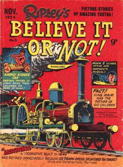 Ripley's Believe It or Not! Magazine (Magman, 1954 series) #5 (November 1954)