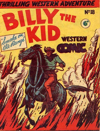 Smoke on the Range—Billy the Kid Western Comic (New Century, 1950? series) #18  ([1951?])