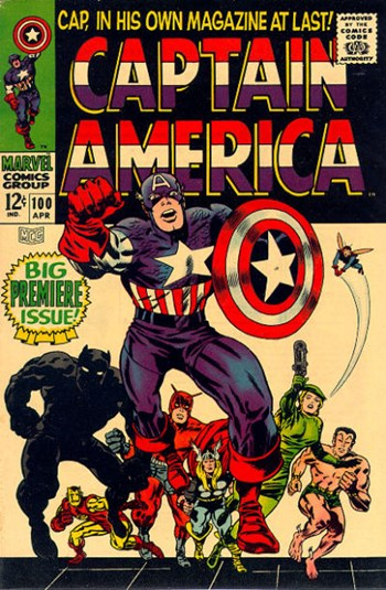 Cap in his own magazine at last !—Captain America (Marvel, 1968 series) #100  (April 1968)