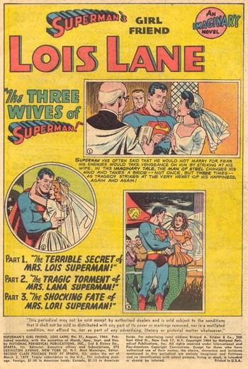 Superman's Girl Friend, Lois Lane (DC, 1958 series) #51 — The Three Wives of Superman (page 1)