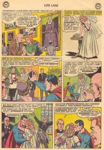 Superman's Girl Friend, Lois Lane (DC, 1958 series) #51 — The Tragic Torment of Mrs. Lana Superman! [The Three Wives of Superman! Part II] (page 3)