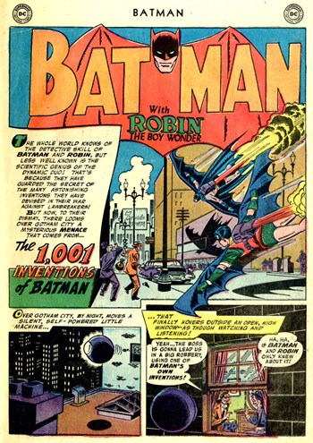 Batman (DC, 1940 series) #109 — The 1,001 Inventions of Batman (page 1)