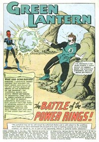 Green Lantern (DC, 1960 series) #9 — The Battle of the Power  Rings! (page 1)
