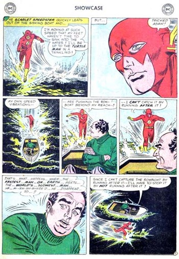 Showcase (DC, 1956 series) #4 — Mystery of the Human Thunderbolt! (page 11)