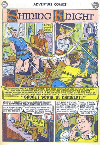 Adventure Comics (DC, 1938 series) #165 — Gadget Boom in Camelot! (page 1)