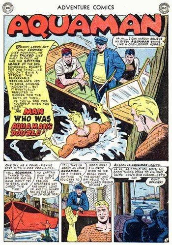 Adventure Comics (DC, 1938 series) #177 — The Man Who Was Aquaman's Double! (page 1)