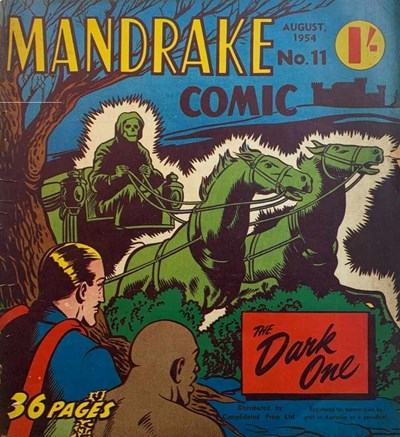 Mandrake Comic (Consolidated, 1953 series) #11 (August 1954)