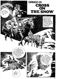 Gun Western (Gredown, 1982?)  — Cross on the Snow (page 1)
