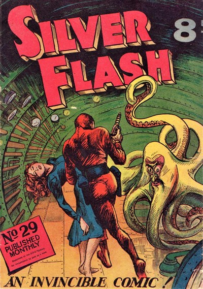 Silver Flash and his Frog-Men (Invincible, 1949 series) #29 ([October 1952?])