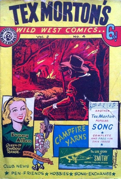 Tex Morton's Wild West Comics (Allied, 1947? series) v2#4 (August 1948)