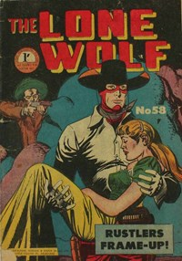 The Lone Wolf (Atlas, 1951? series) #58 — Rustlers Frame-Up (Cover)